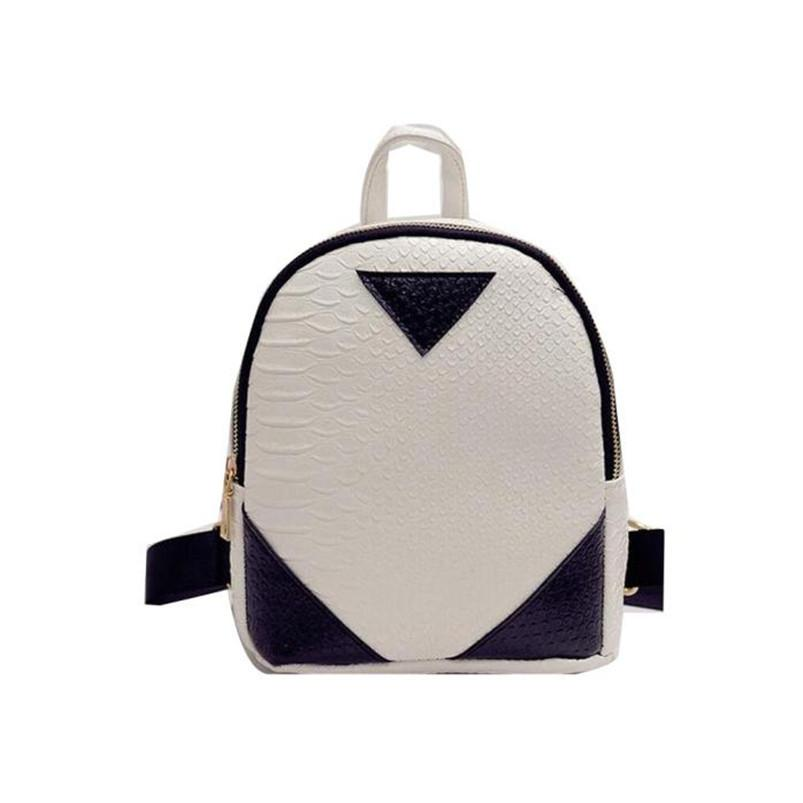 Rucksack Concise Serpentine Mochila Women Backpack For Teenage Girls Female Ladies Bag Cute Casual Zipper School Bags Back Pack