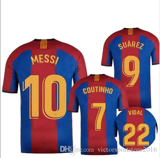 cheap for discount 7ea63 8f398 2019 2020 Special Edition barcelona soccer jersey 19 20 VIDAL COUTINHO  SUAREZ messi El Clasico football shirts top quality