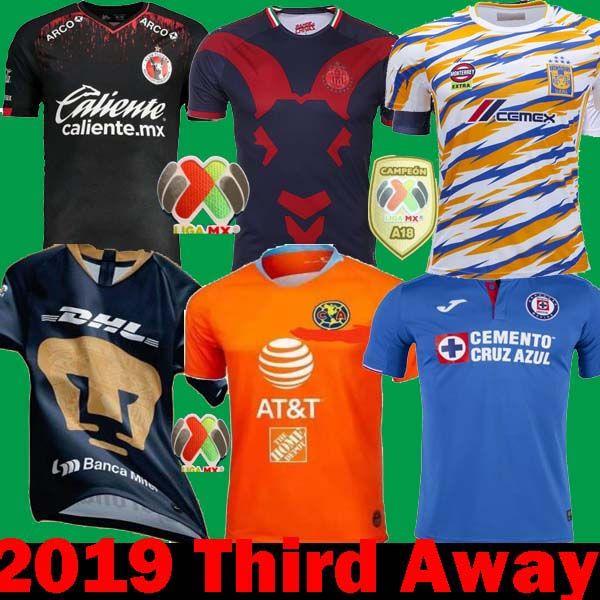 2019 DHL Shipping 2019 Mexico Liga MX CHIVAS Guadalajara Club America UNAM  TIGRES 2018 Soccer Jerseys 18 19 Cruz Azul Third Away Football Shirts From  ... 187a5053d