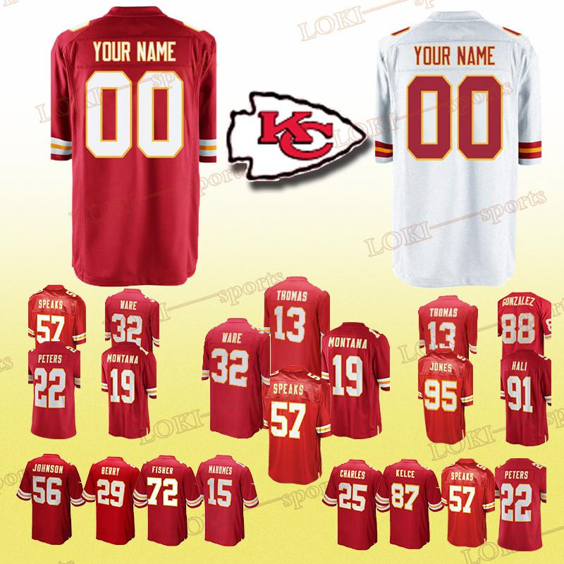 detailed pictures dc86d d7558 Kansas City 33 Chief jerseys 27 Kareem Hunt 11 Alex Smith 25 amaal Charles  13 DeAnthony Thomas Can be customized jersey