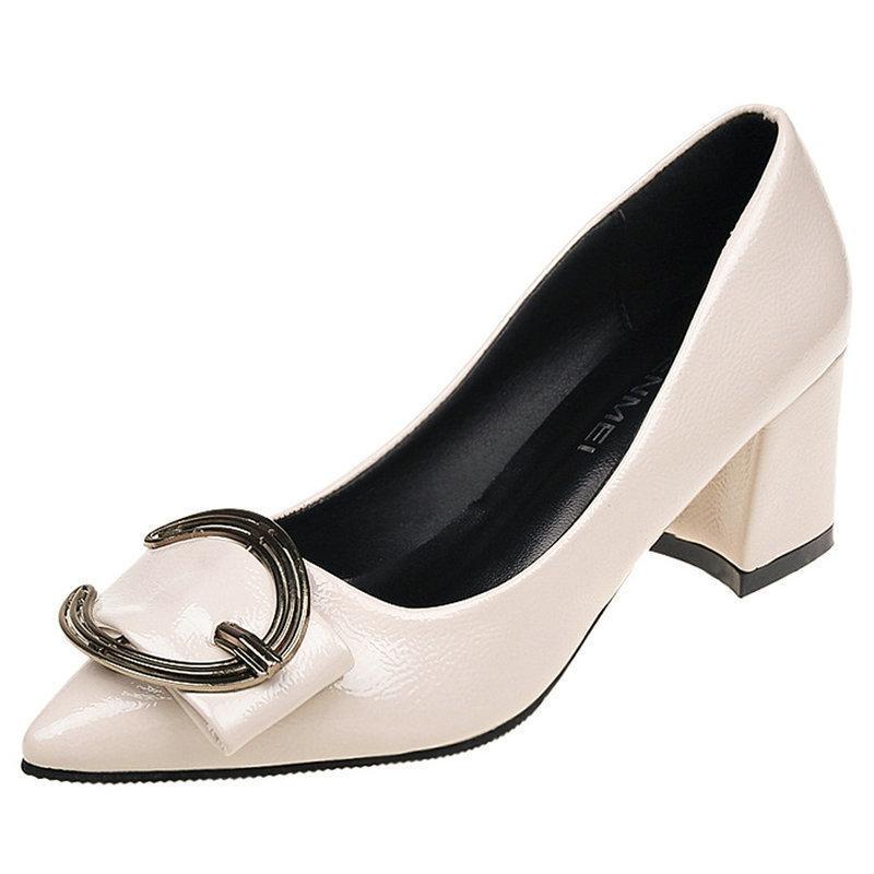 Mujeres De Tacones 2019 Vestir Las Calzado Mujer Del Otoño Cómoda Estilo Occidental Bombas Zapatos Nuevo Bajos Vestido Para Ocio Cuadrados eWE2IDYH9