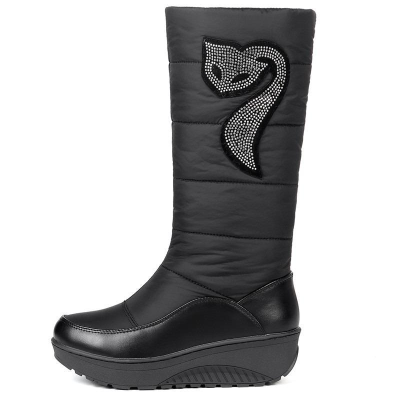 18494fcaea52 2019 MORAZORA Plus Size 35-44 New Women Winter Boots Fur Warm Cotton ...