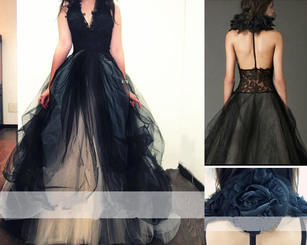 Black Lace High Neck Backless Sexy Vintage Evening Dresses New Arrival Bridal Gown Special Occasion Prom Bridesmaid Party Dress 17LF80