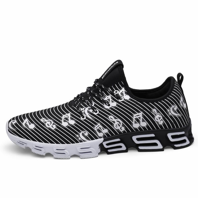 e11a0153333 Acheter Casual Slip On Chaussures Hommes Sneakers Été À Lacets Hommes  Appartements Sport Chaussures Adulte 2018 Baskets Chaussure Respirante 98  De  34.33 Du ...