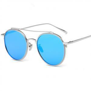 d782ec7e150fe Metal Round Frame Flat Lens European American Retro Double Beam Sunglass  Fashion Color Film Glasses LLA249 Mens Eyeglasses Sport Sunglasses From  Kids dress