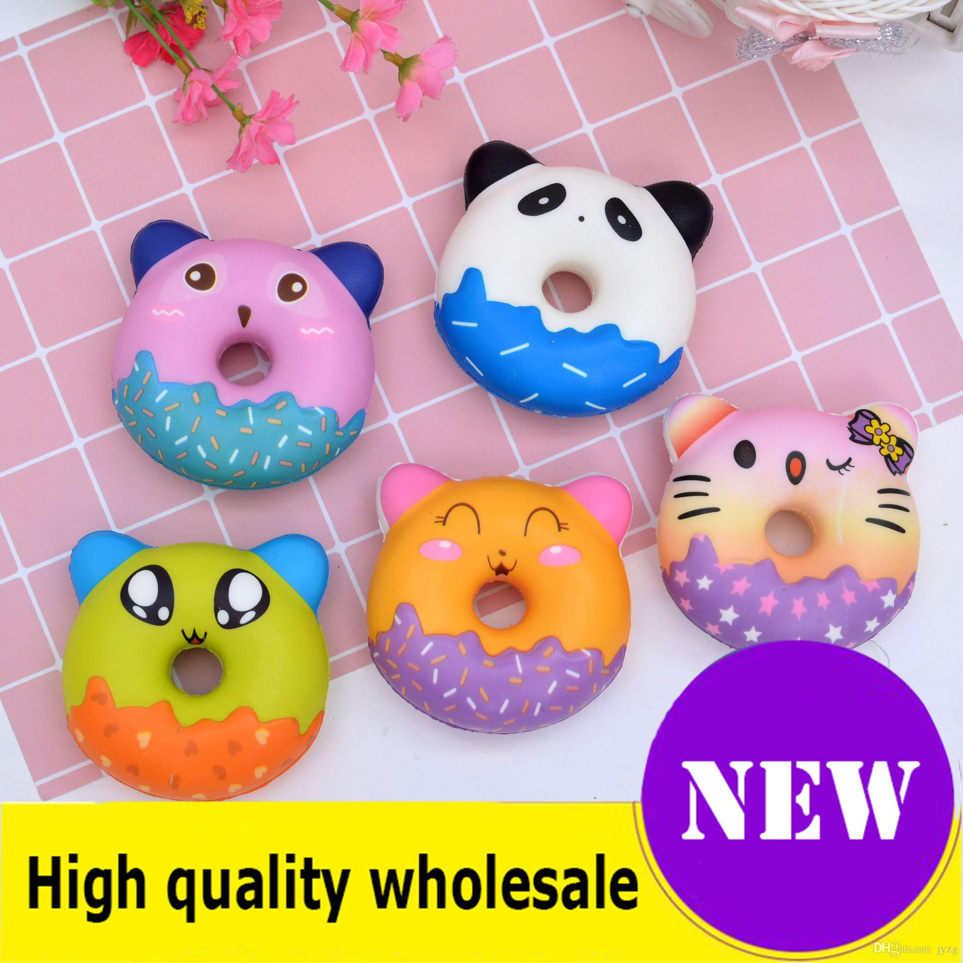 Squishy Toy panda donuts Slow Rising Jumbo Stress Relieve Dolls Multicolor Niños Squeeze Toys Kids Decompresión mejor regalo