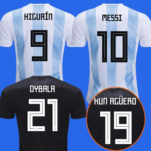 b8677b5e79d 2019 Argentina Away Black Soccer Jerseys MESSI 2018 World Cup Argentina  Football Shirt DYBALA DI MARIA HUGUAIN BIGLIA PASTORE Aguero Maillot From  Teleporter ...
