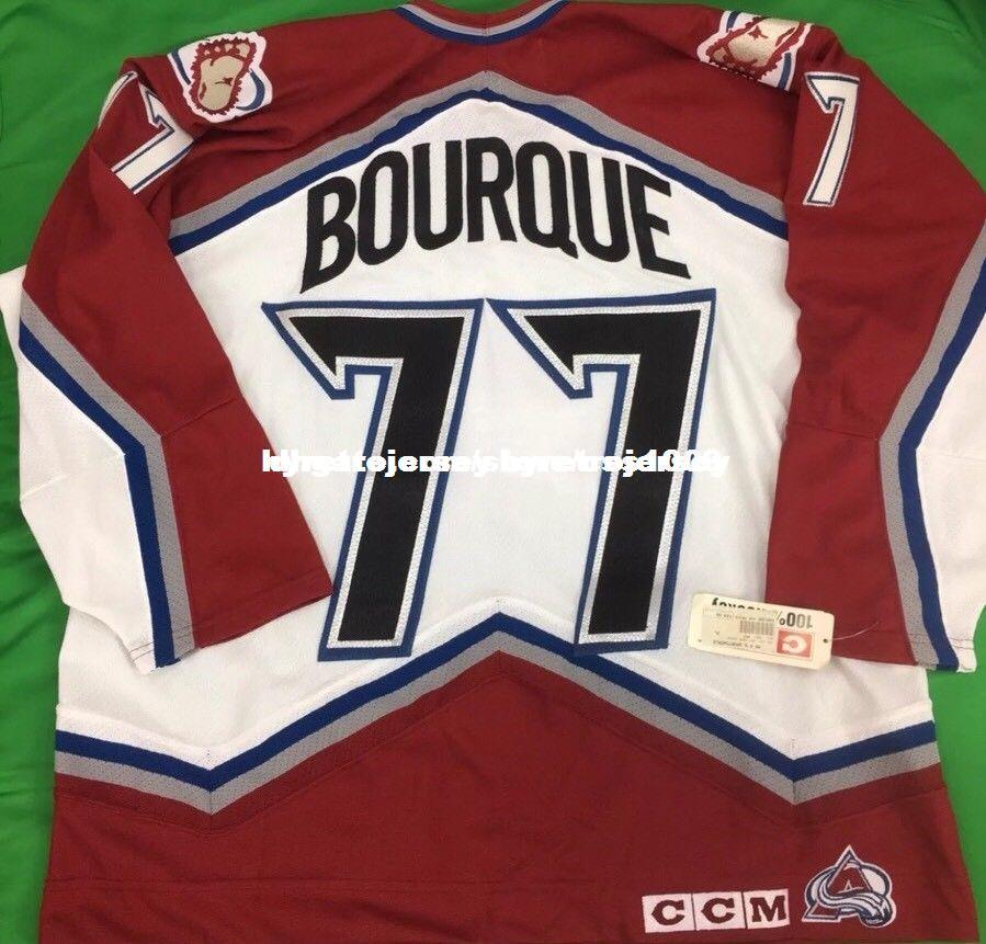 finest selection e2e00 7d8f7 Cheap custom 90 s CCM Colorado Avalanche Ray Bourque Jerseys Mens  Personalized stitching jerseys