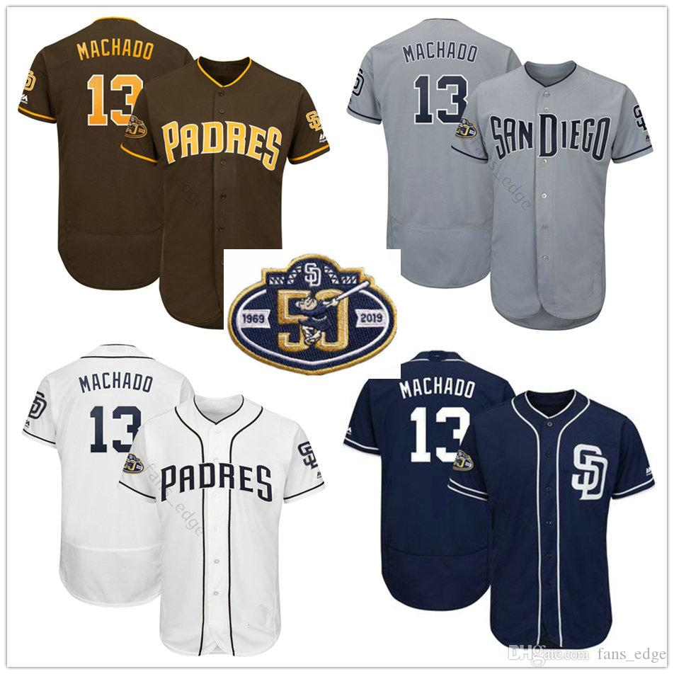 659ae4261 2019 2019 New Arrival Man Diego Padres #13 Manny Machado Jersey Blue White  Grey Stitched Manny Machado Baseball Jerseys 50th Patch From Heimei_shop,  ...