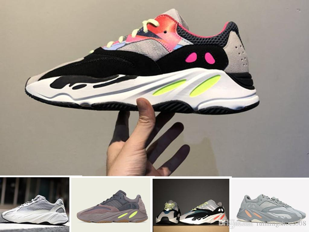 quality design 6bc24 b2cfa 2019 New 700 Runner Kanye West Mauve Wave Mens Women Athletic Best Quality  700s Sports Running Sneakers Designer Shoes US 5-11