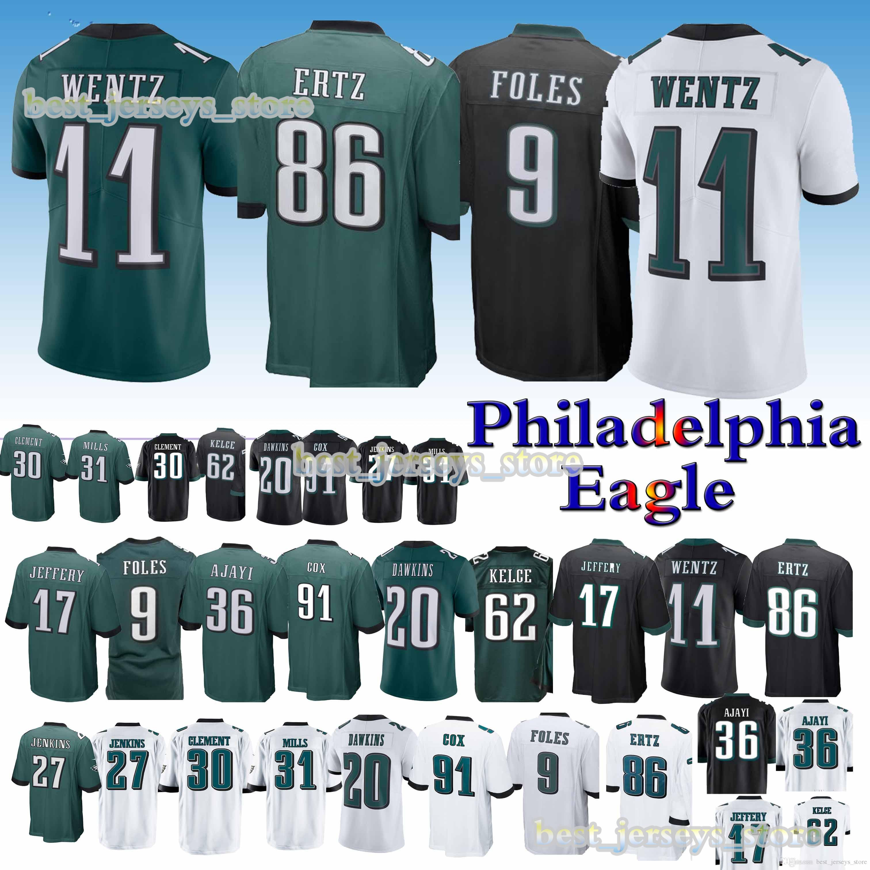 79ad35b91f4 2019 Philadelphia Jersey Eagle 11 Carson Wentz 9 Nick Foles 86 Zach Ertz 20 Brian  Dawkins 2019 New Jerseys Top MEN Shirt From Best jerseys store