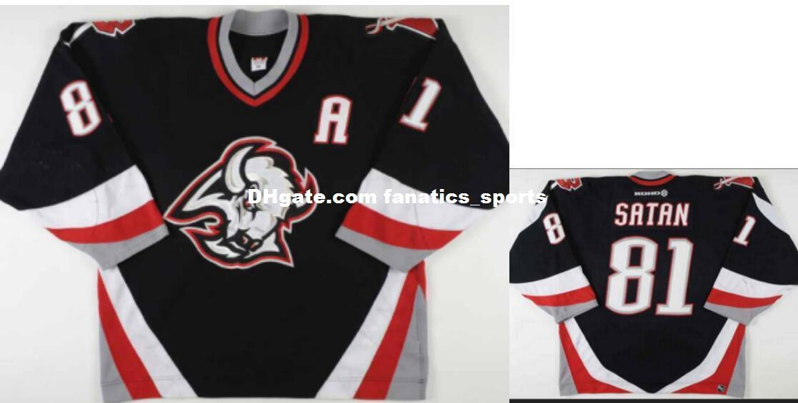 quality design 7a1a2 38f17 Real Men real Full embroidery #81 2002-03 Miroslav Satan Buffalo Sabres  Game Worn Vintage Hockey Jersey or custom any name or number Jersey