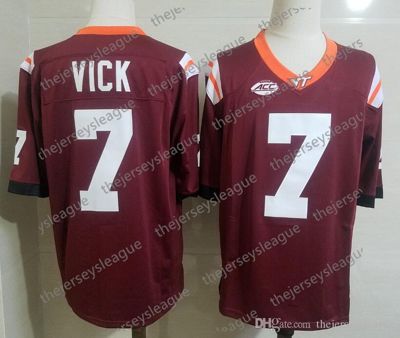 555f007bbc8 2019 Virginia Tech Hokies  7 Michael Vick Stitched Dark Red Hot Sale NCAA  College Football Jerseys Free Shopping From Thejerseysleague