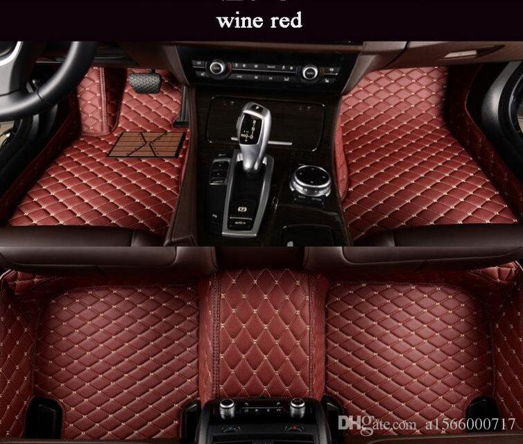 For BMW 7 Series 2005-2018 Car Floor Mats leather Liner Waterproof pads Auto Mat