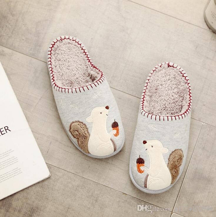 c252c747081a Cotton Slipper of Autumn Winter Cartoon Day of Day of Men And Women ...