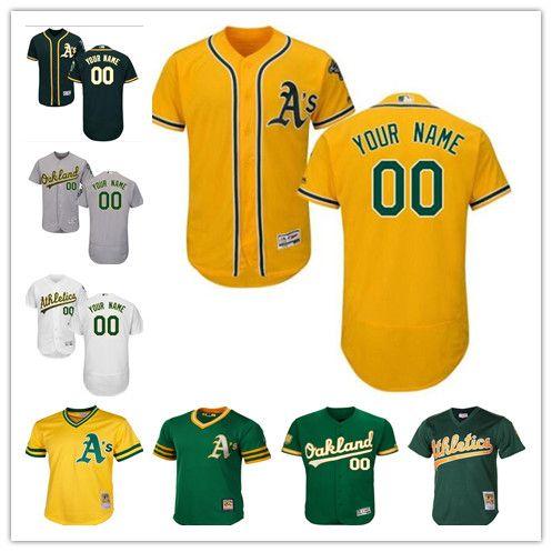7e44f92c8 custom Men s women youth Oakland Athletics Jersey Personalized Name and  Number Grey White Kids Girls Baseball Jerseys