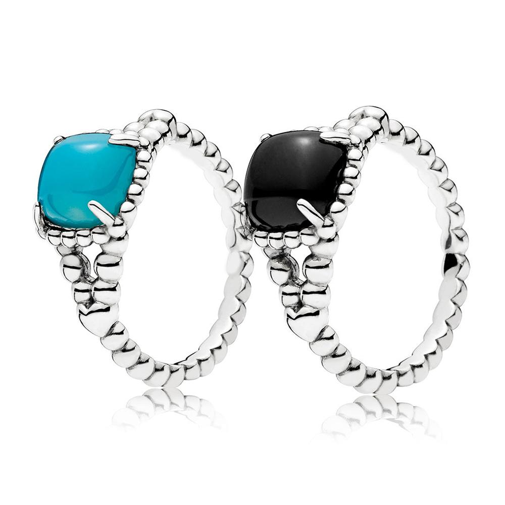 2e40f9325 Blue/Black Vibrant Spirit Ring Real 925 Sterling Silver Rings For Fashion  Women Band Wedding Rings Promise Rings Bridal Jewelry
