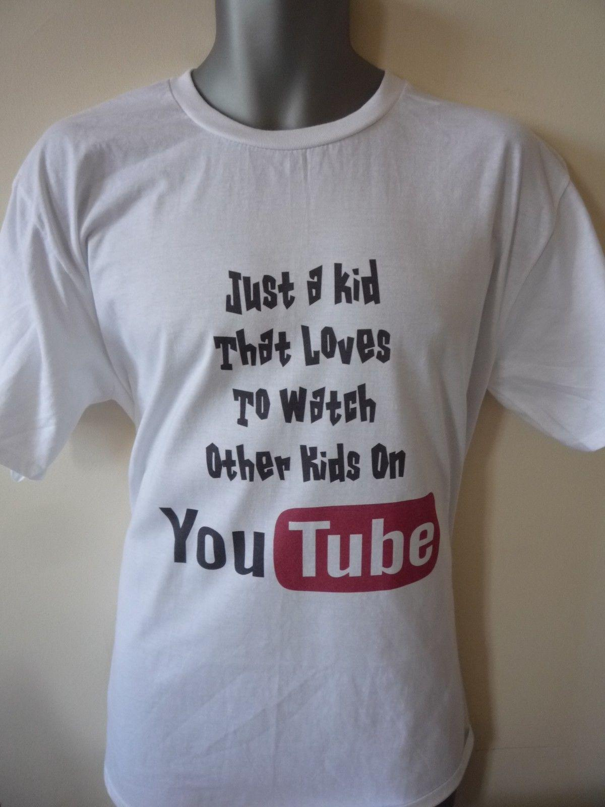 dce7326208 JUST A KID WHO LOVES TO WATCH OTHER KIDS ON YOUTUBE KIDS ADULT T SHIRT  GAMING Funny Casual Tshirt Top Shirt And Tshirt Create Your Own T Shirt  Design From ...
