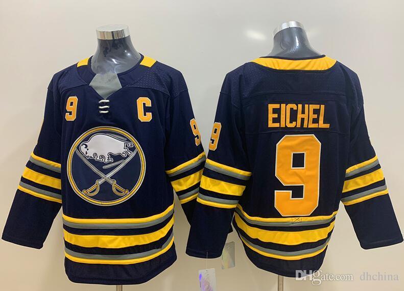 New Sabres Jerseys  9 Eichel Jersey New Hockey Jersey Blue White ... 4d586d317