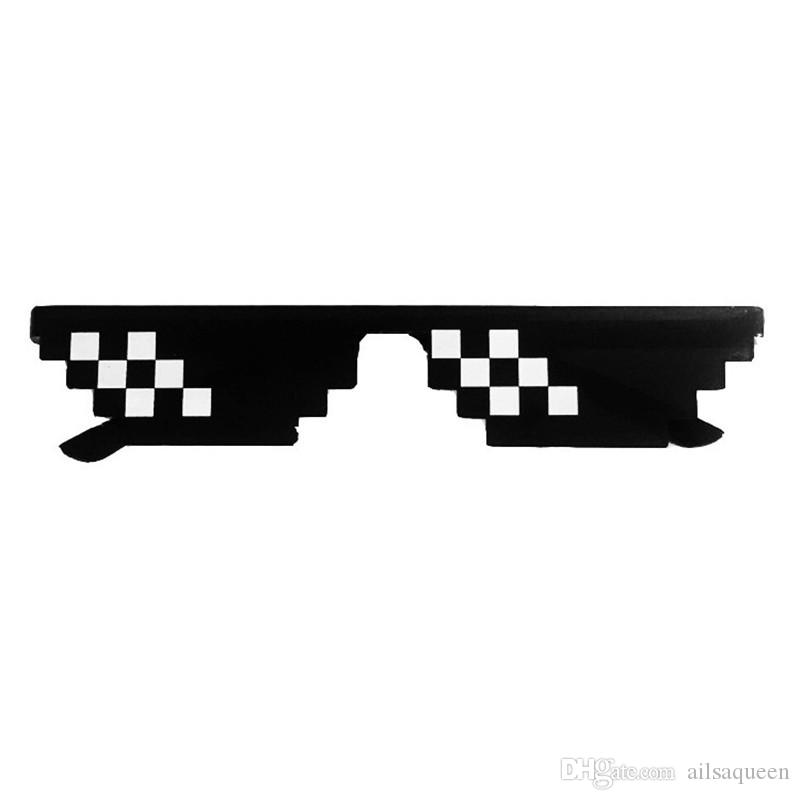 536a54c730a Europe And The US Hot Style Vintage Mosaic Sunglasses 8 Bit MLG Pixelated  Sunglasses Thug Life Party Eyewear Men And Women Fashion Police Sunglasses  ...
