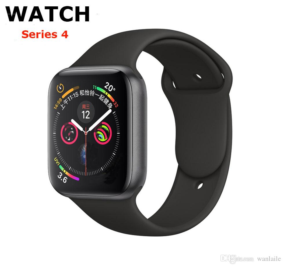 Para iPhone iWatch IWO Series 44 milímetros 9 relógio inteligente 4 1to1 Bluetooth Smartwatch Heart Rate Monitor Esporte Relógio de pulso para iPhone Samsung