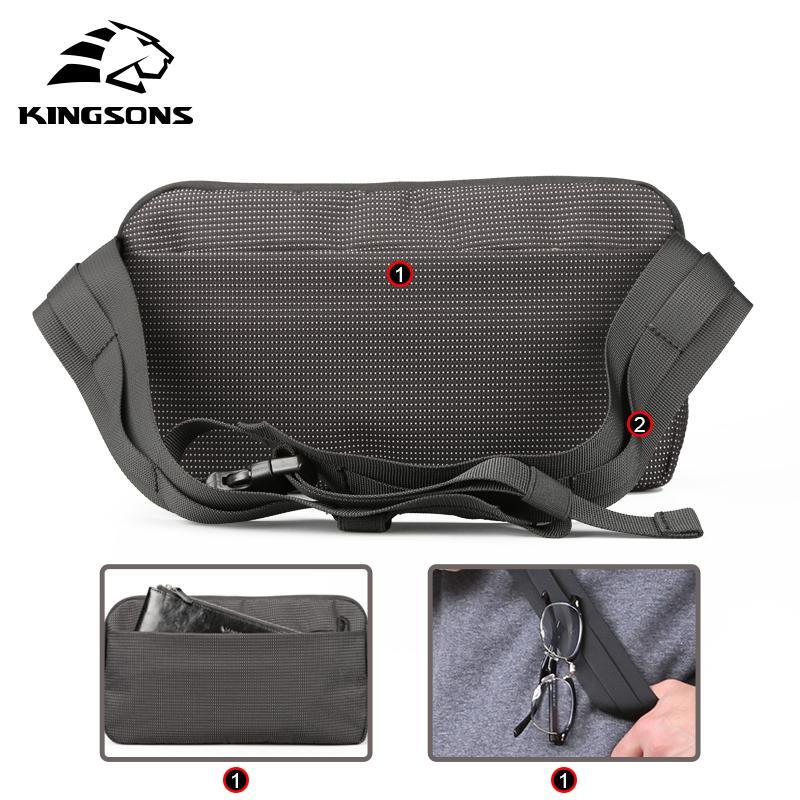 Kingsons Ombro Messenger Bags para Homens Mulheres Cintura Packs Meninos Meninas Pequenas Sacos Crossbody Masculino Feminino Peito Sling Bag 10.1 polegada