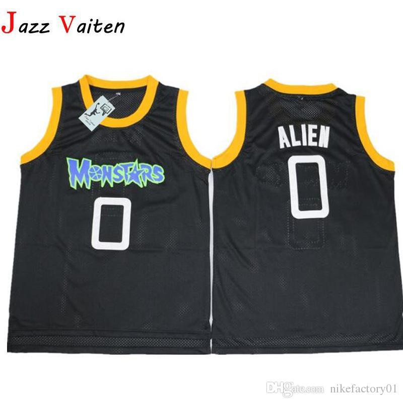 788db967c Compre Filme Monstar Basketball Jersey Hiphop Dos Homens 0   Alien Jerseys  Camisa Costurado Esporte Bordado Jersey Veste De Nikefactory01
