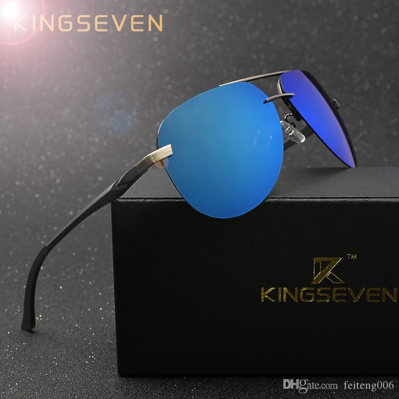 74ad8693702d 2019 KINGSEVEN Aluminum Magnesium Polarized Sunglasses Men Driver Mirror  Sun Glasses Male Fishing Female Eyewear For Men  16128 From Feiteng006