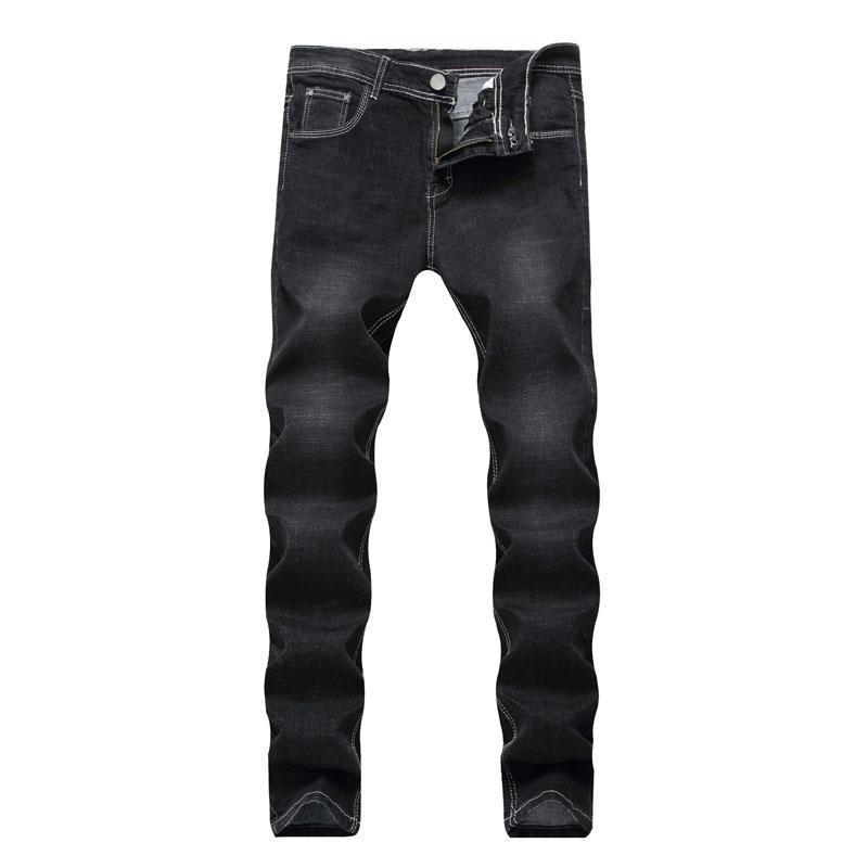 6423dd8247 ... pitillo negros Diseñador de moda Pantalones cortos para hombre  Pantalones vaqueros de la motocicleta delgada Moto Biker Causal Jeans para  hombre