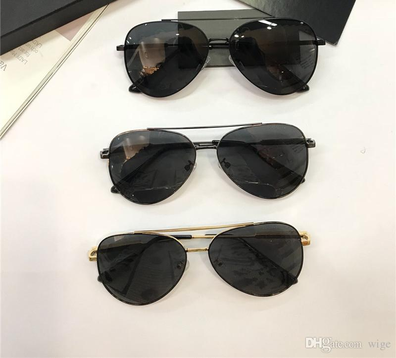 d3b30edbd612 Mens Black Pilot Sunglasses Sonnenbrille Vintage Designer Sun Glasses  Summer Eyewear New with Box 0328 Sunglasses Men Sunglasses Sunglasses  Online with ...