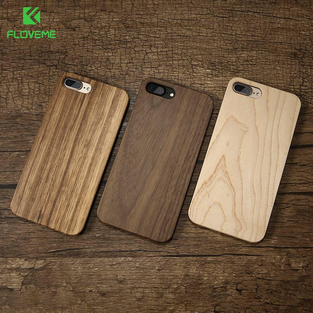 Floveme Wood Cover For Iphone 7 Iphone X Xr Xsmax Case Natural Bamboo Wooden Phone Cases For Iphone 8 6 6s Plus 5s Se 5 Fundas