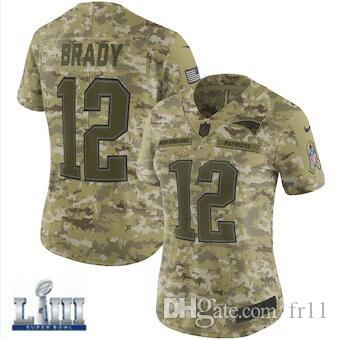 ff6cab611 Womens Patriots Tom Brady Jersey Super Bowl LIII Rob Gronkowski Julian  Edelman Custom Camo Salute to Service American Football Jerseys Cheap Tom  Brady ...