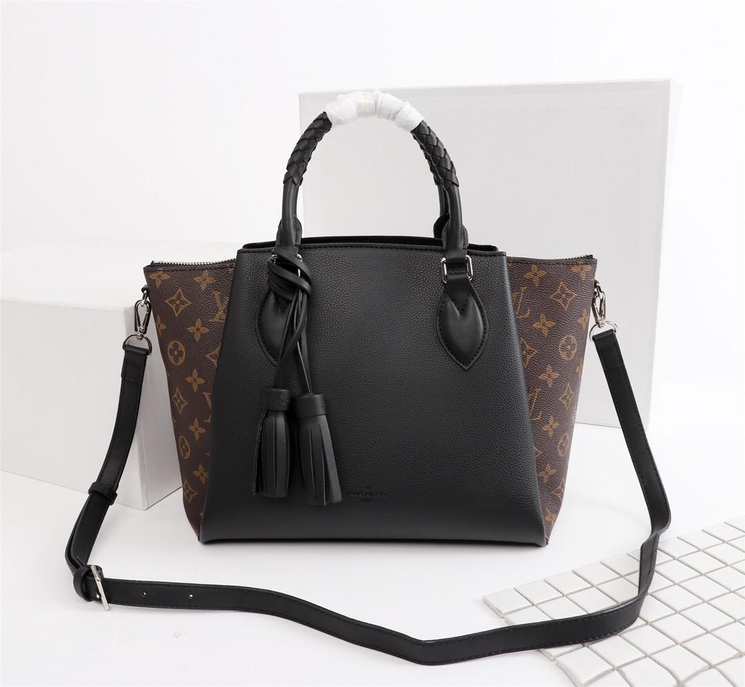 1931ab2c6e 2018 High Quality Luxury Famous Women Bags Lady Thick Material Real Leather  Handbags Famous Designer Bags Purse Shoulder Tote Bag Female Overnight Bags  For ...