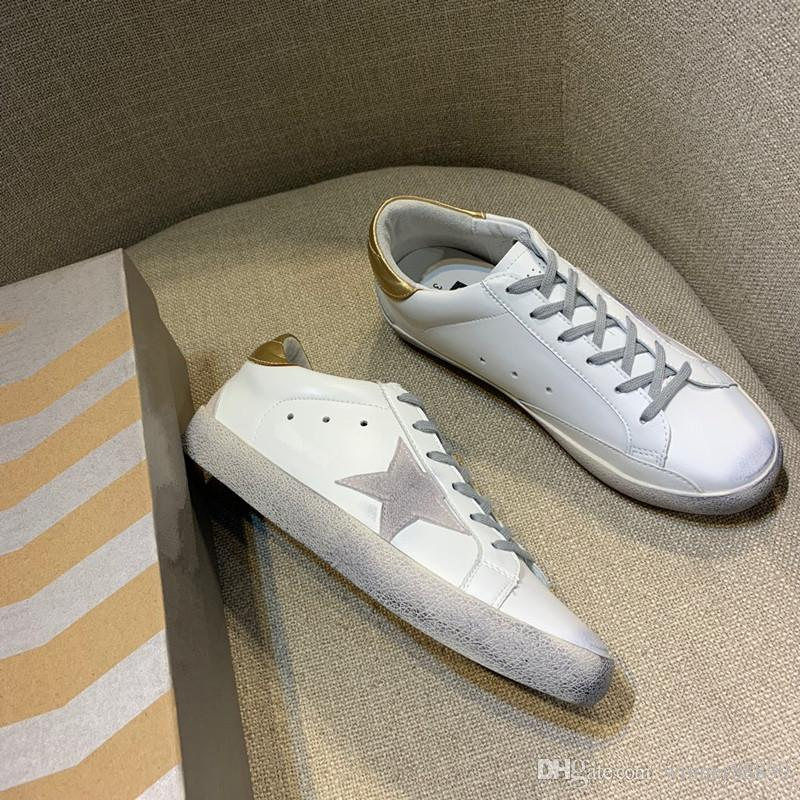 0d92e26aeb81 2019 Wholesale 2019 Dirty Shoes GOLDEN GOOSE Italy Goose SLIDE Sneakers  Goldens Scarpe Donna Uomo Super Star Sneakers Femme Homme Goose Shoes From  ...