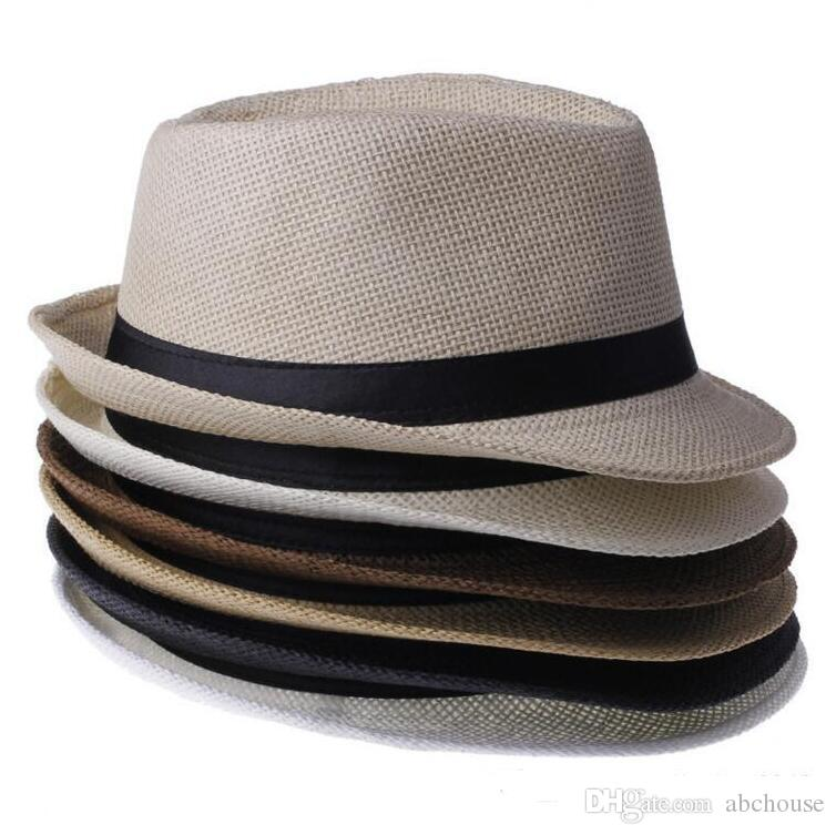 287ad0f5d94 Panama Straw Hats Fedora Soft Fashion Men Women Stingy Brim Caps Choose Straw  Hats Stingy Brim Caps Men Hats Online with  36.07 Piece on Abchouse s Store  ...