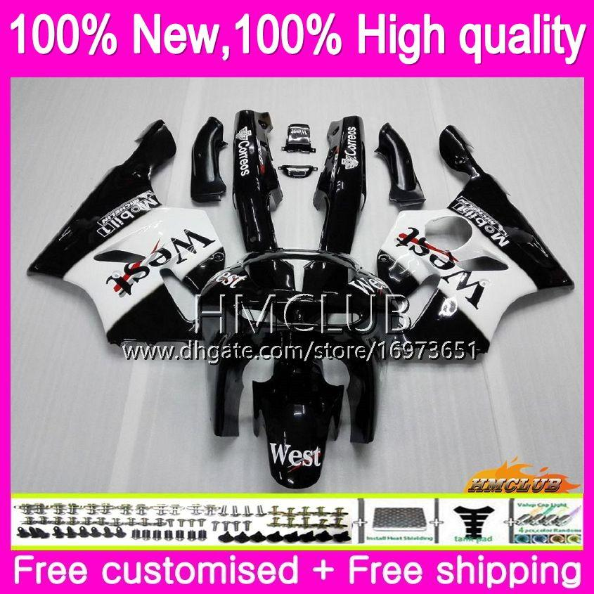 Body For KAWASAKI ZX 636 600 CC 600CC ZX6R 94 95 96 97 black west 61HM.2 ZX600 ZX636 ZX-6R 94-97 ZX 6 R 6R 1994 1995 1996 1997 Fairings