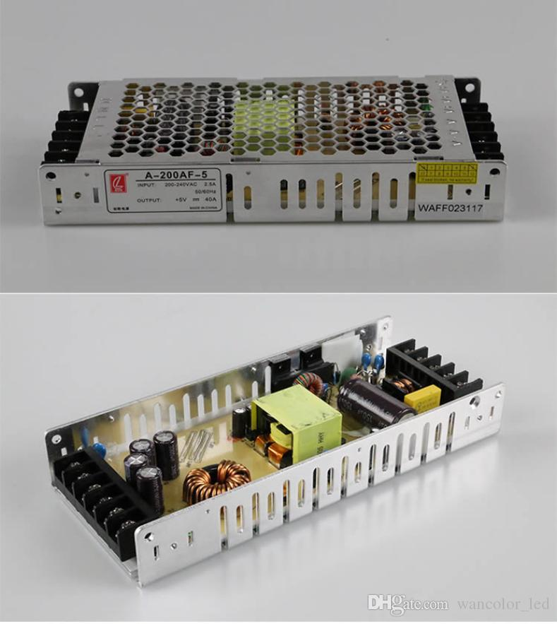 output 5v 40A 200W ,design for led module,input voltage AC 110-240V 47-63hz chuanglian brand led display Switch power supply