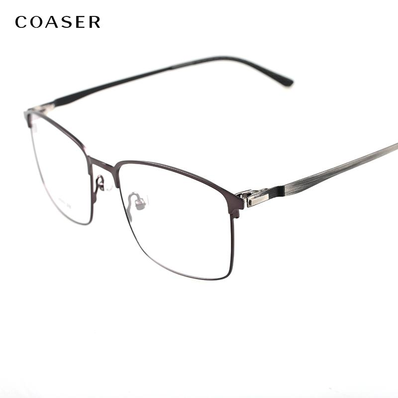 445c0ac036 2019 Oversize Square Titanium Glasses Frame Wide Reading Spectacle Frame  Men Vintage Optical Eyeglasses Suit Myopia Clear Eye Eyewear From  Marquesechriss