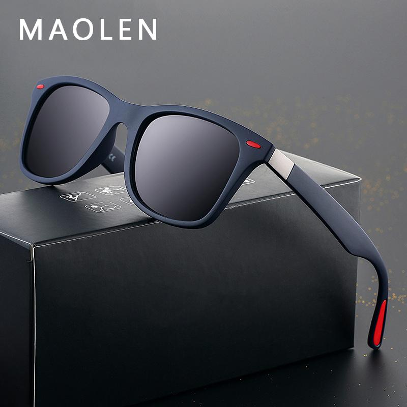 e24c02b69 Compre 2019 Novo DESIGN DA MARCA Clássico Polarizada Óculos De Sol Das  Mulheres Dos Homens De Condução Moldura Quadrada Óculos De Sol Masculino  Goggle UV400 ...