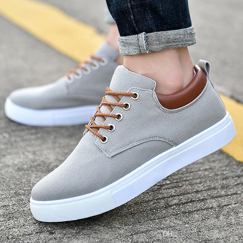 2df6a0f27b7a Designer Canvas Sneakers Men Vulcanize Shoes Autumn Platform Shoes  Breathable White Sneakers Men Trainers Tenis Zapatilla Hombre  45695  Designer Shoes White ...