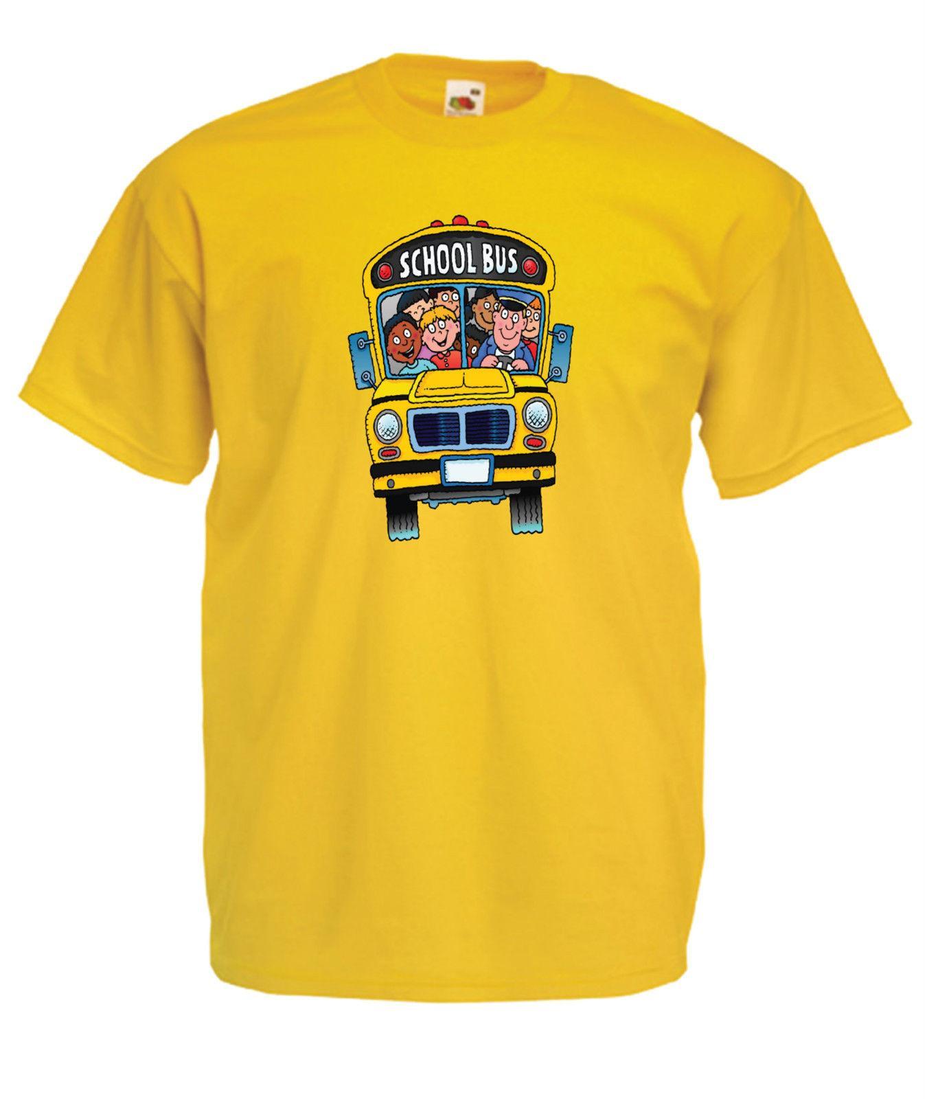 Scuola Bus Divertente Festa Di Compleanno Di Natale Regalo Presente Tee Uomo Donna T Shirt Top Divertente Spedizione Gratuita Unisex Maglietta Casual