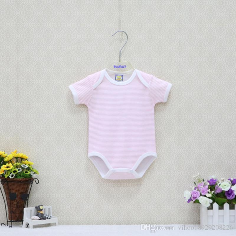 05b0ac7d8 One Piece 100% Cotton Baby Boys And Girls Striped 0-12 Months ...