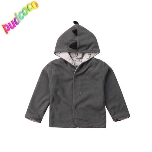 2019 Infant Kids Baby Girl Boy Winter Top Dinosaur Print Hooded Jacket & Coat Hot