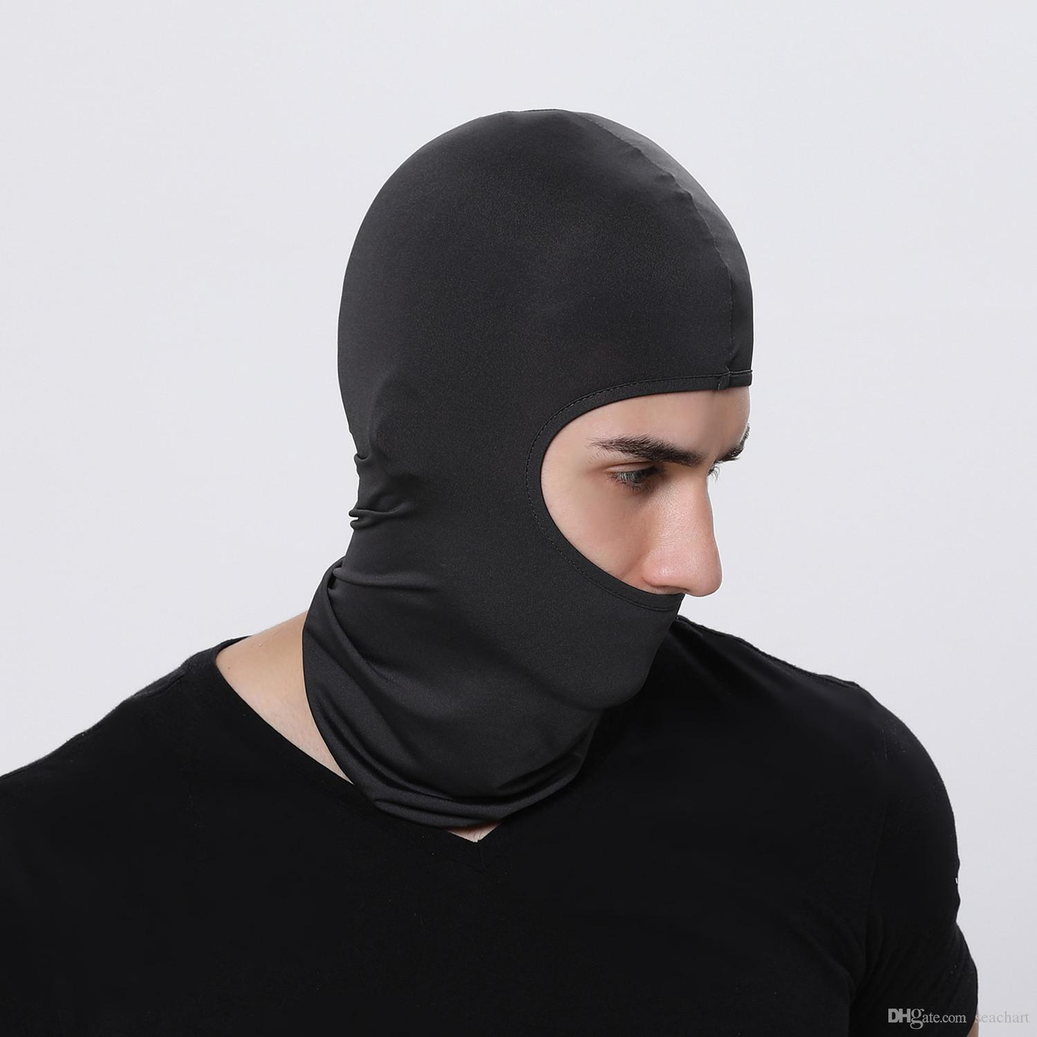 Hot Sele Motorcycle Face Mask Cycling Ski Neck Protecting Outdoor Balaclava Full Face Mask Ultra Thin Breathable Windproof Mask Men's Masks