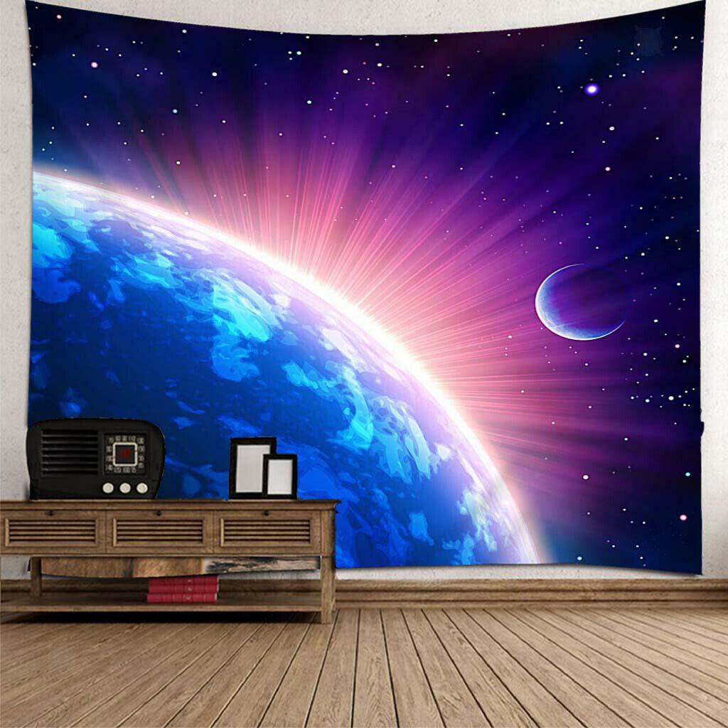 Wall Hanging Tapestry Curtain for Bedroom Living Room Dorm 180x180cm Space
