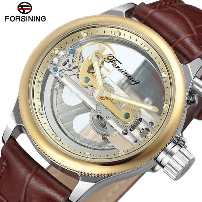 badfc0e539e Compre Forsining 2018 Nova Moda À Prova D Água Mens Relógios Top Marca De  Luxo Relógio Automático Homens Esqueleto Relógio De Prata Mecânica De  Sisan08