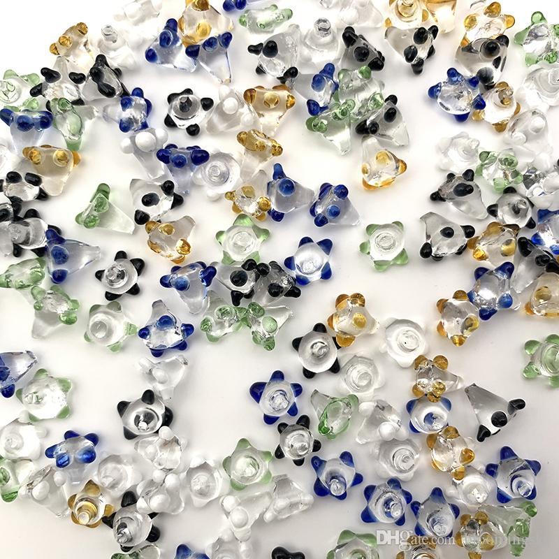 Las pantallas de colores policromáticos para el cristal de la mano de tubería cuenco de cuarzo de la margarita Flor Banger Hole Bongs a prueba de polvo Nails accesorios de fumar