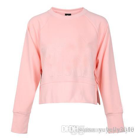 Rosa Tops Nik Capucha Camisetas Marca Con Diseñador Nuevo Otoño Ropa Mujer 2018 Sweatershirts De Sudaderas bY7v6Ifyg