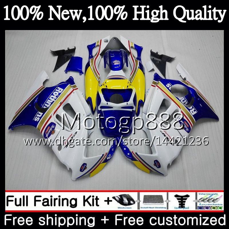 Body For HONDA CBR600 F3 CBR600RR F3 CBR600FS 95 96 47PG12 CBR 600F3 FS Rothmans Blue CBR600F3 CBR 600 F3 1995 1996 Fairing Bodywork kit