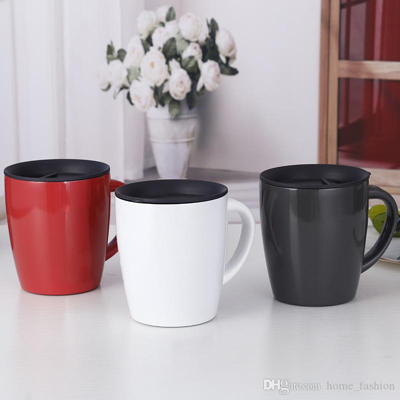 2019 New 330ml Coffee Mug Vacuum Cup Thermos 304 Stainless Steel Insulated  Water Cups Tumbler With Handle Lid Office Gifts
